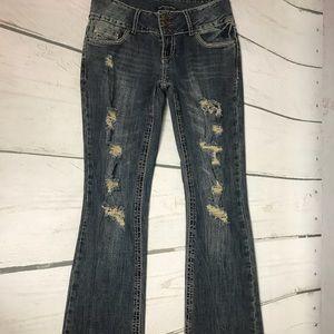 Twentyone Black distressed jeans 7/8 Regular